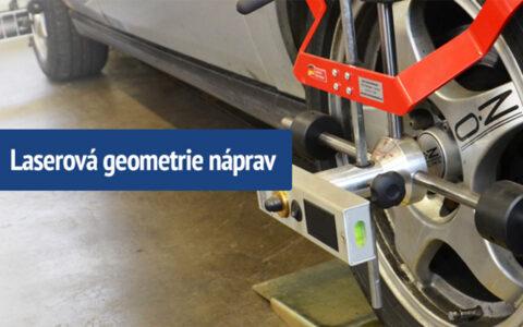 Měření geometrie náprav pomocí moderního německého laserového zařízení